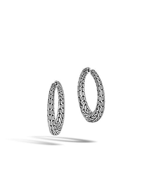 John Hardy | Multicolor Classic Chain Graduated Small Hoop Earring | Lyst