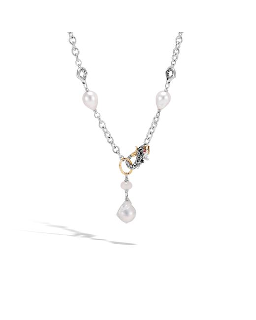 John Hardy | Multicolor Naga Station Necklace With Pearl, White Moonstone | Lyst