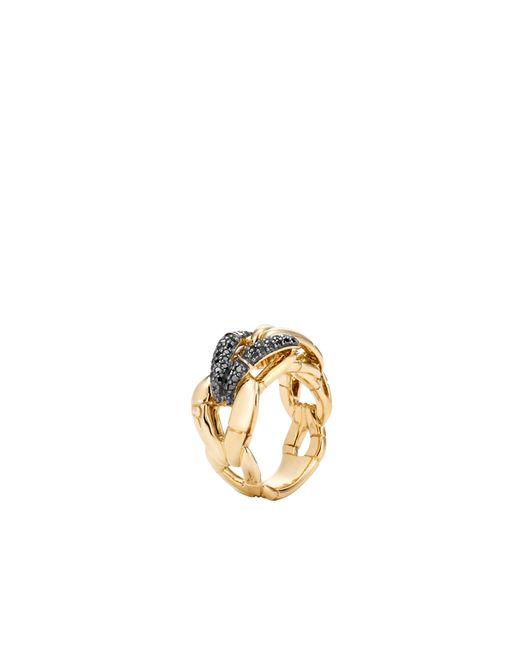 John Hardy | Metallic Bamboo Ring With Diamonds | Lyst