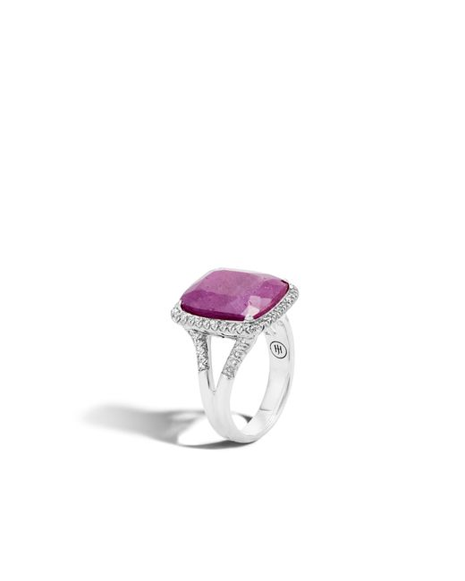John Hardy - Multicolor Magic Cut Ring With Indian Ruby And Diamonds - Lyst