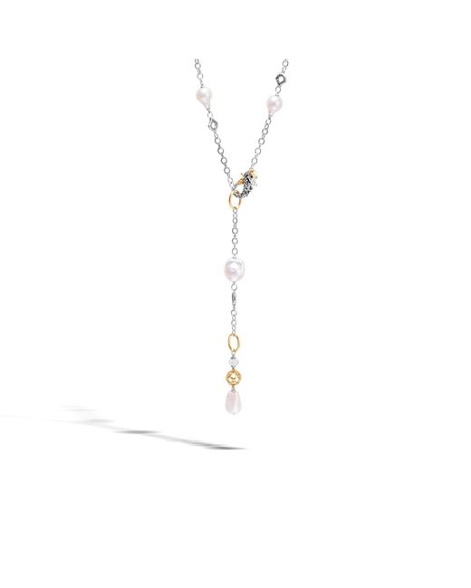 John Hardy | Naga Station Necklace With Pearl, White Moonstone | Lyst