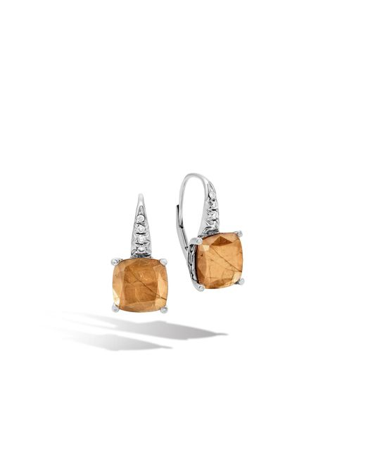 John Hardy | Multicolor Magic Cut Drop Earring, Golden Sheen Sapphire, Diamonds | Lyst