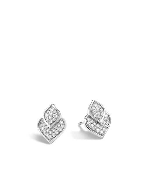 John Hardy - Multicolor Naga Stud Earring With Diamonds - Lyst