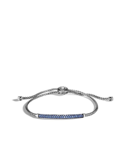 John Hardy - Classic Chain Pull Through Bracelet With Blue Sapphire - Lyst