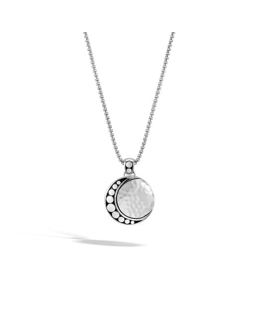 John Hardy - Metallic Moon Phase Hammered Pendant Necklace - Lyst