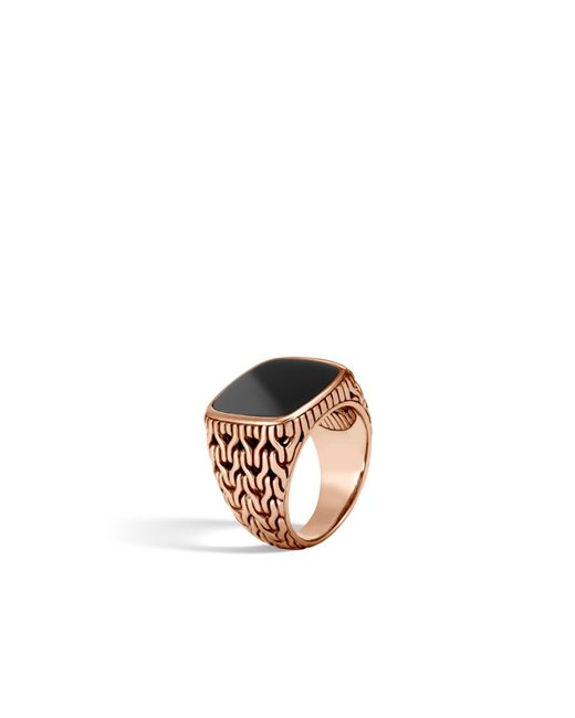 John Hardy | Classic Chain Signet Ring With Black Onyx for Men | Lyst