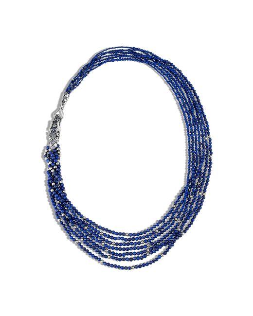 John Hardy | Naga Necklace With Lapis Lazuli, Blue Sapphire | Lyst