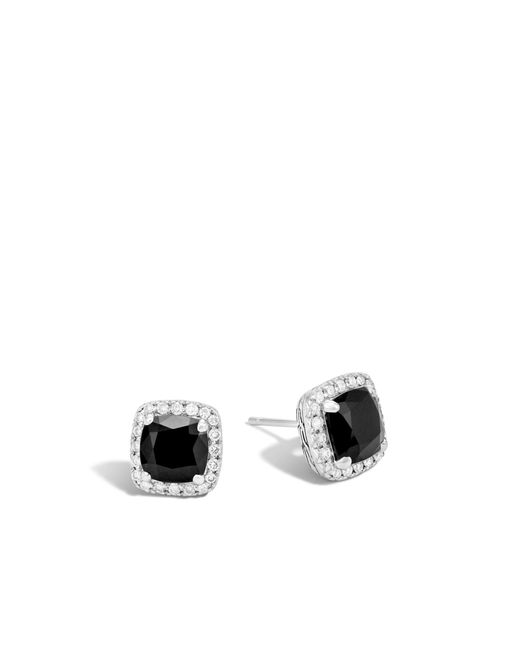 John Hardy Magic Cut Stud Earring With Black Onyx Black onyx KYXs85