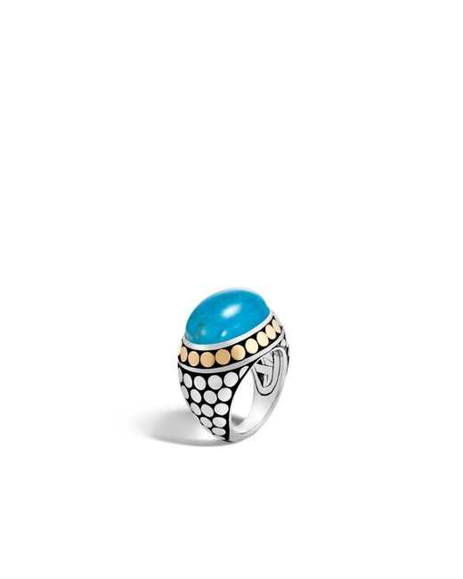 John Hardy - Blue Dome Ring With Turquoise - Lyst