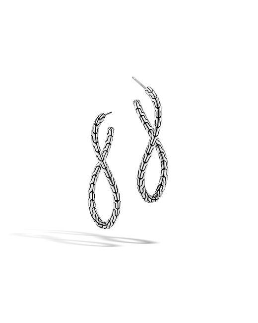 John Hardy - Multicolor Classic Chain Twisted Hoop Earring - Lyst