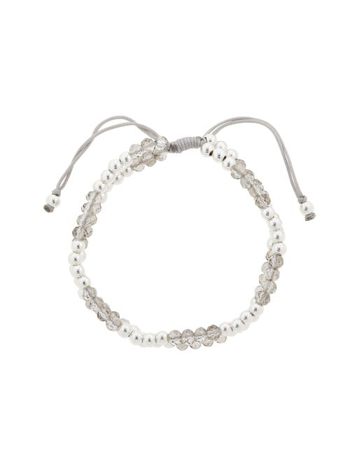 John Lewis - Gray Faceted And Polished Bead Friendship Bracelet - Lyst