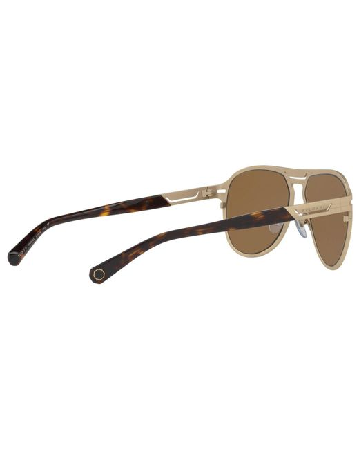 85fcc8cd4fd0 ... Lyst BVLGARI - Brown Bv5043tk Men s Titanium Polarised Aviator  Sunglasses for Men ...