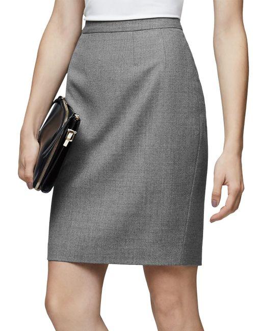 Reiss   Gray Austin Tailored Pencil Skirt   Lyst