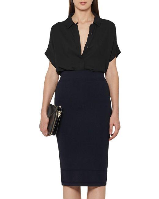 Reiss   Blue Guardian Knitted Pencil Skirt   Lyst