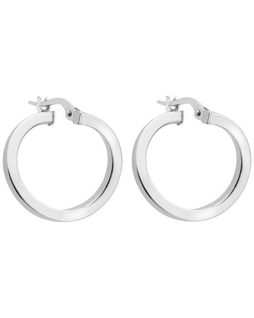 Ib&b | Metallic 9ct White Gold Creole Earrings | Lyst