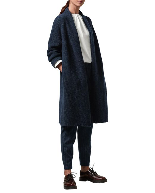 Toast | Blue Knitted Tweed Coat | Lyst