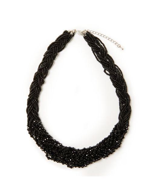 John Lewis | Black Sparkle Bead Twist Statement Necklace | Lyst