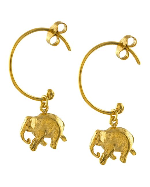 Alex Monroe - Metallic Indian Elephant Hoop Earrings - Lyst