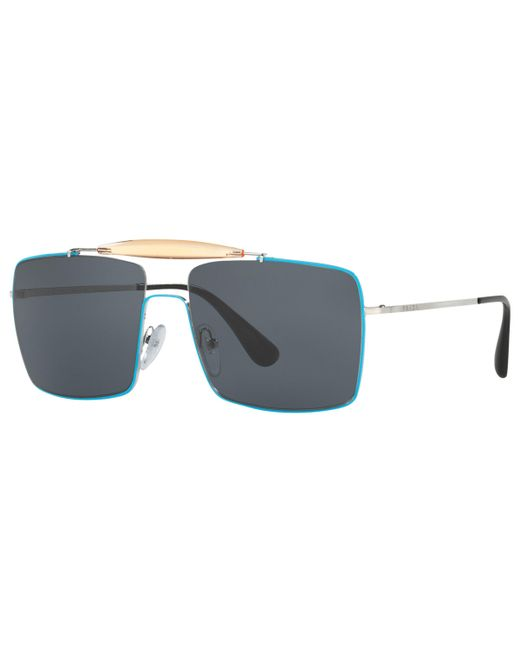 5aab187d09d Prada - Multicolor Pr57ss Square Sunglasses for Men - Lyst ...