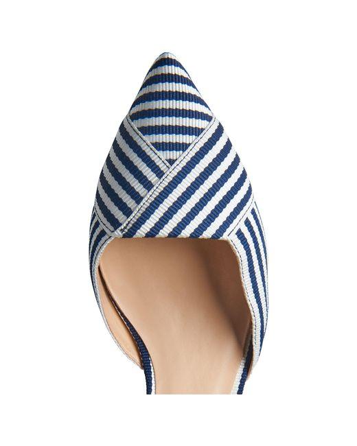 0645f4e2fe4 ... L.K.Bennett - Blue Steph Two Part Kitten Heel Court Shoes - Lyst ...