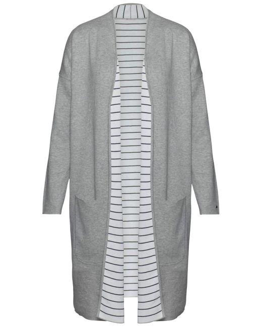 Tommy Hilfiger | Gray Balina Reversible Stripe Cardigan | Lyst