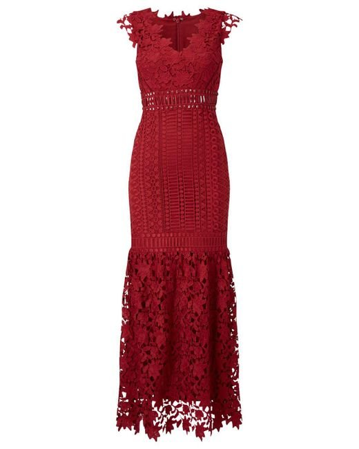 Phase Eight - Red Sauvan Lace Dress - Lyst