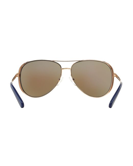 7858fd5d9757d ... Michael Kors - Metallic Mk5004 Chelsea Polarised Aviator Sunglasses -  Lyst ...