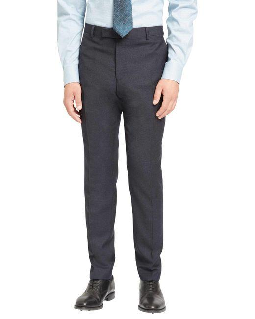 Jaeger | Blue Super 100s Wool Mouline Slim Fit Suit Trousers for Men | Lyst