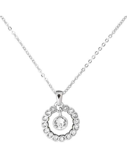 Ted Baker - Metallic Cadhaa Concentric Swarovski Crystal Round Pendant Necklace - Lyst