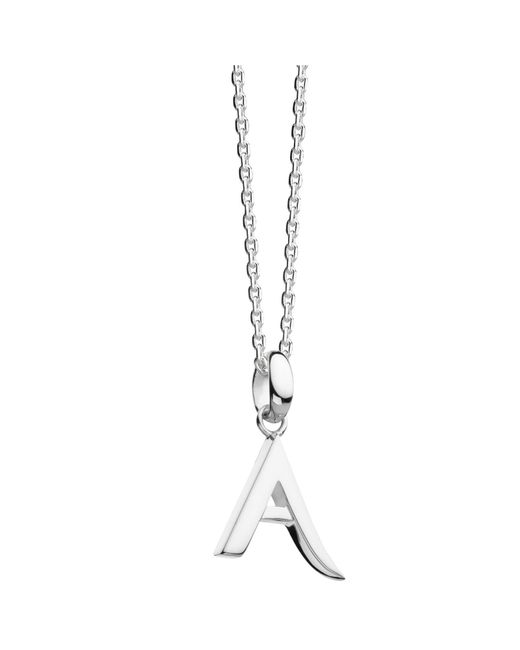 Kit Heath | Metallic Sterling Silver Initial Pendant Necklace | Lyst