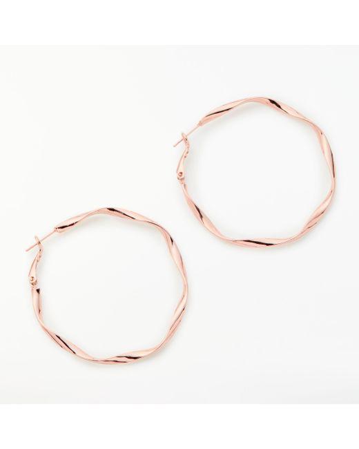 John Lewis - Metallic Twisted Hoop Earrings - Lyst