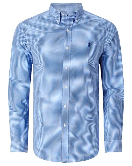 Polo Ralph Lauren | Blue Solid Cotton Poplin Shirt for Men | Lyst