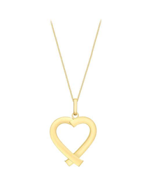 John Lewis - Metallic Ibb 9ct Yellow Gold Triangular Tube Heart Pendant - Lyst