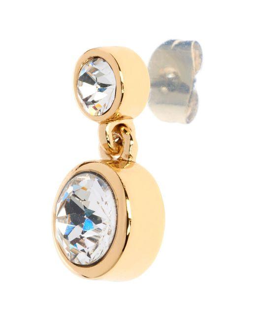 John Lewis - Metallic Karen Millen Swarovski Crystal Dot Drop Earrings - Lyst