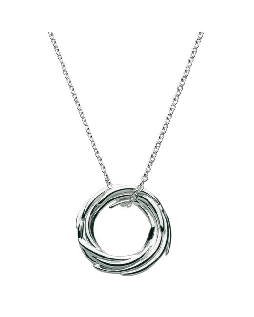 Kit Heath - Metallic Sterling Silver Nest Pendant Necklace - Lyst