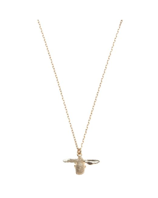Alex Monroe | Metallic 18ct Yellow Gold Goldcrest Teeny Tiny Bumble Bee Pendant | Lyst