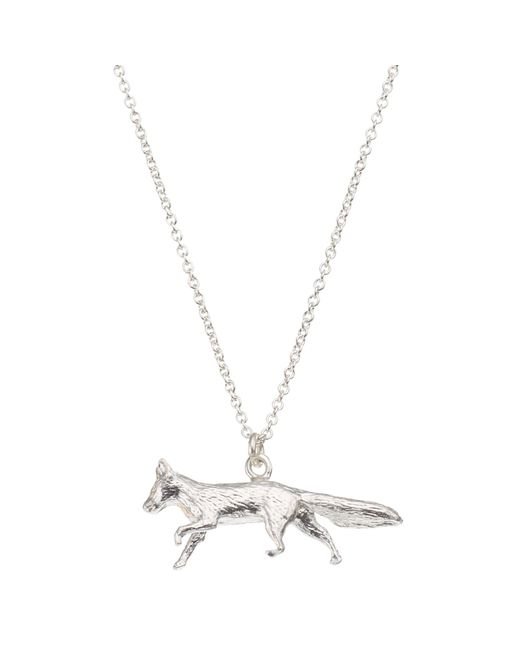 Alex Monroe | Metallic Sterling Silver Fox Pendant | Lyst