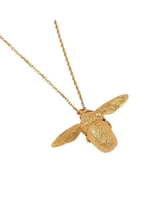 Alex Monroe | Metallic 22ct Gold Vermeil Bumble Bee Pendant Necklace | Lyst