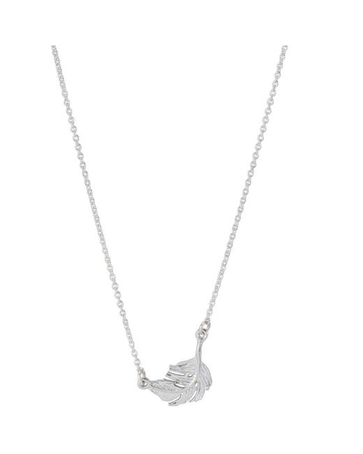Alex Monroe | Metallic Little Feather Pendant Necklace | Lyst