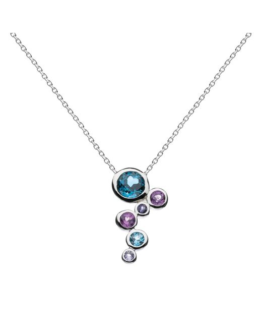 Kit Heath | Blue Sterling Silver Cascade Topaz Amethyst Pendant Necklace | Lyst
