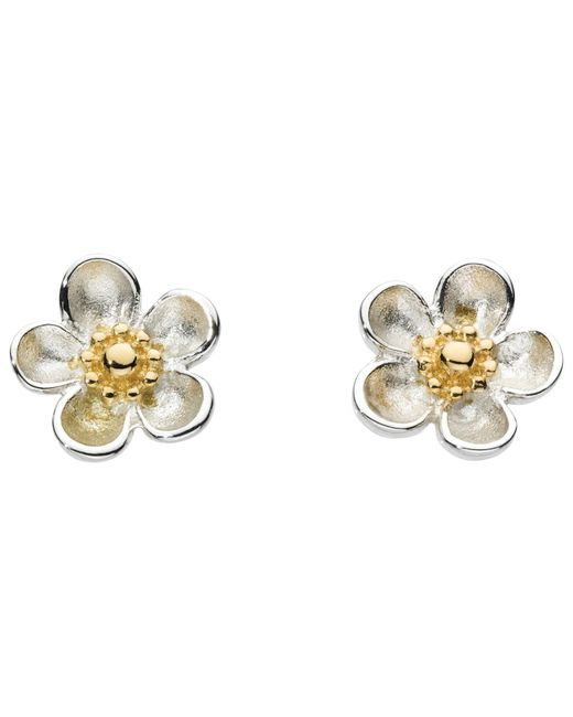 Kit Heath | White Budding Blossom Sterling Silver Stud Earrings | Lyst