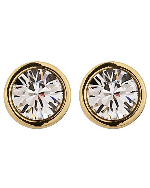 Dyrberg/Kern | Metallic Dyrberg/kern Noble Medium Swarovski Crystal Stud Earrings | Lyst