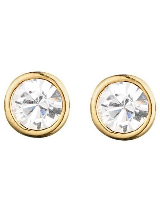 Dyrberg/Kern   Metallic Dyrberg/kern Thelma Small Swarovski Crystal Stud Earrings   Lyst
