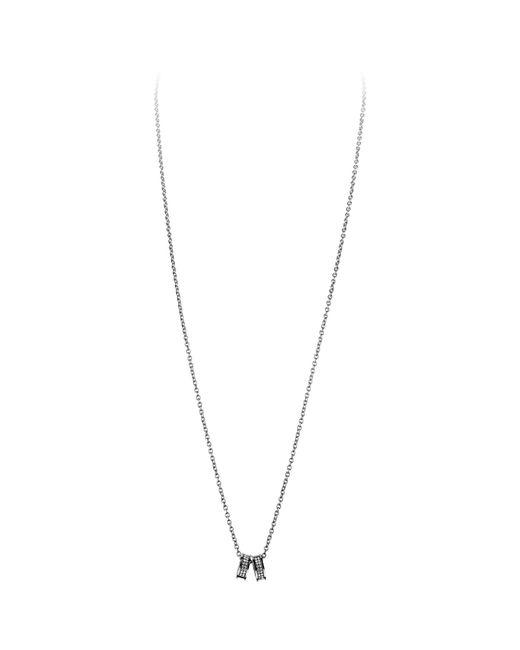 Dyrberg/Kern   Metallic Dyrberg/kern Fermi Swarovski Crystal Double Band Pendant Necklace   Lyst