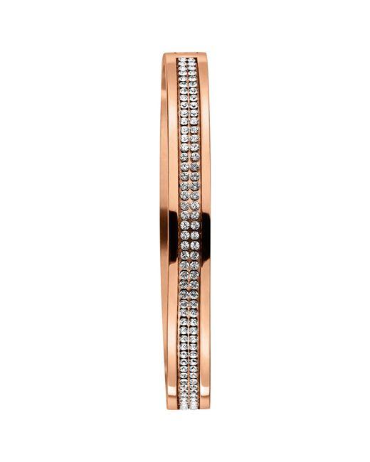 Dyrberg/Kern | Metallic Dyrberg/kern Lorbel Rose Gold Plated Swarovski Crystal Bracelet | Lyst