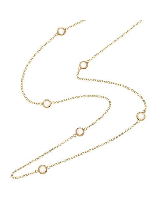 Melissa Odabash   Metallic Swarovski Crystal Long Necklace   Lyst
