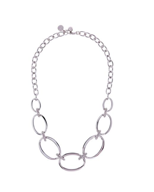 Karen Millen | Metallic Oversize Chain Necklace | Lyst