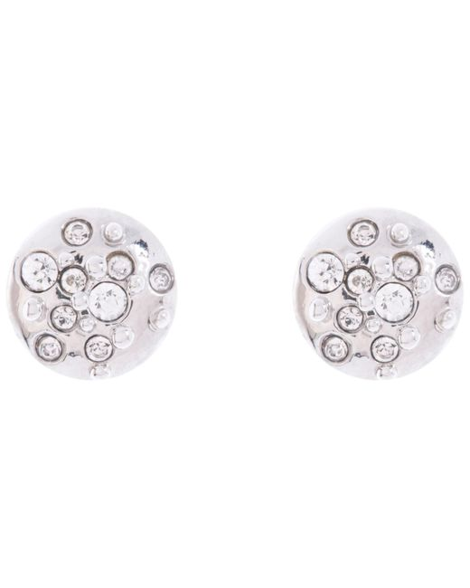 Karen Millen | Metallic Sprinkle Crystal Stud Earrings | Lyst