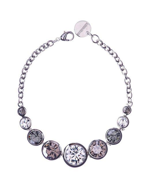 Karen Millen   Metallic Swarovski Teardrop Bracelet   Lyst