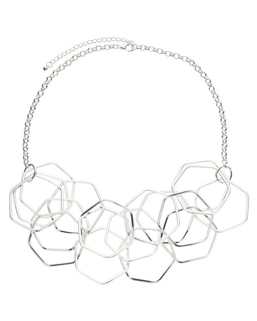 John Lewis | Metallic Hexagonal Necklace | Lyst